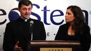 Father Tomasz Trafny of the Vatican's Pontifical Council for Culture and Dr. Robin Smith, the CEO of NeoStem, last year announced a partnership to explore adult stem cell research.