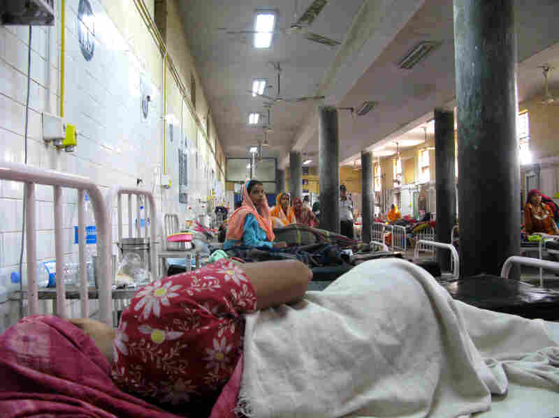 The maternity ward at Swami Dayanand hospital in northeast Delhi, the most densely populated district in India. U.N. demographers say the world's 7 billionth citizen could be born in India on Oct. 31.