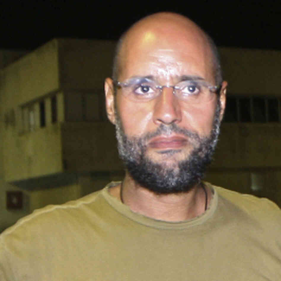Saif al-Islam Gadhafi, in Tripoli on Aug. 23, 2011.