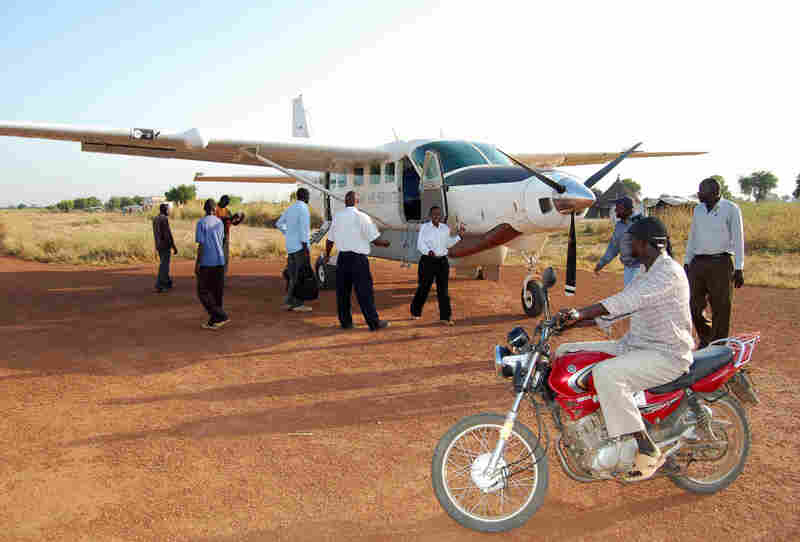 Small planes are a common way to move around South Sudan, which has few paved roads. Many roads are impassable during rain.