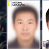 National Geographic's composite sketch of the world's most typical person (left) and the real Mu Li.