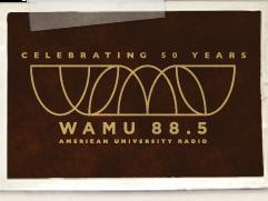 WAMU 50 Logo