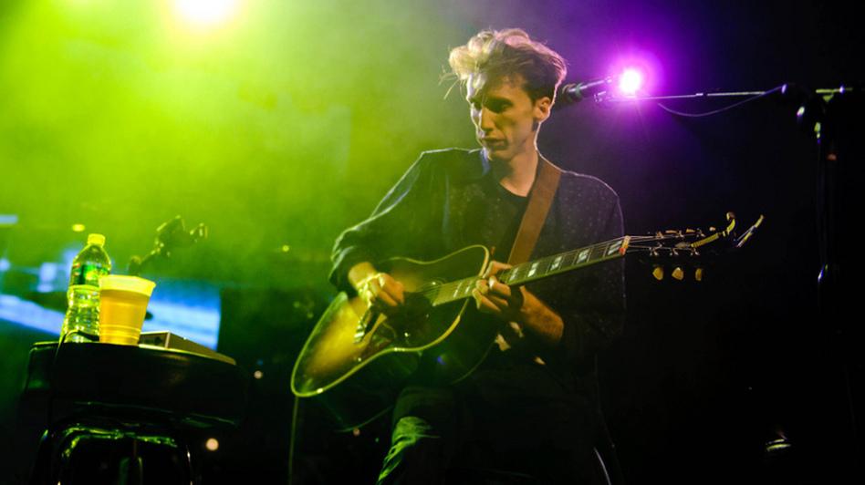 Atlas Sound plays the Orange Peel at Moogfest on Friday, October 28, 2011. (Adam Kissick for NPR)