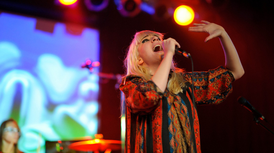 Austra plays the Orange Peel at Moogfest on Friday, October 28, 2011.