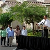 President Obama announces his housing initiative to help homeowners with federally guaranteed mortgages refinance their homes, in Las Vegas on Monday.