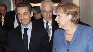"French President Nicolas Sarkozy  reportedly made a comment that German Chancellor Angela Merkel  ate a ""second helping of cheese,"" even though she says she's on a diet."