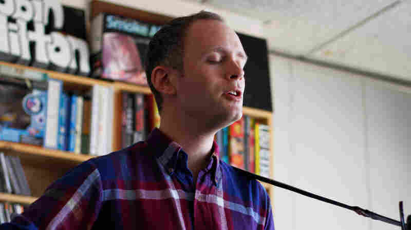 Jens Lekman performs a Tiny Desk Concert at the NPR Music offices.