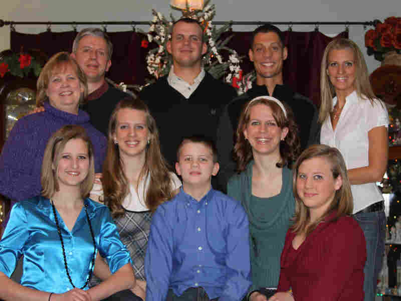The Boelk family is seen at Christmas in 2009. This is the last family photo that was taken before their son James was killed in Afghanistan.
