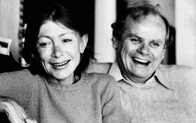 Joan Didion and John Gregory Dunne, pictured above in 1977, were married for nearly 40 years. Didion writes about his death in The Year of Magical Thinking.