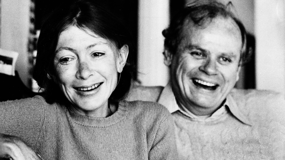 Author Joan Didion with her late husband John Gregory Dunne