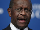 Republican presidential candidate Herman Cain at The National Press Club today (Oct. 31, 2011).