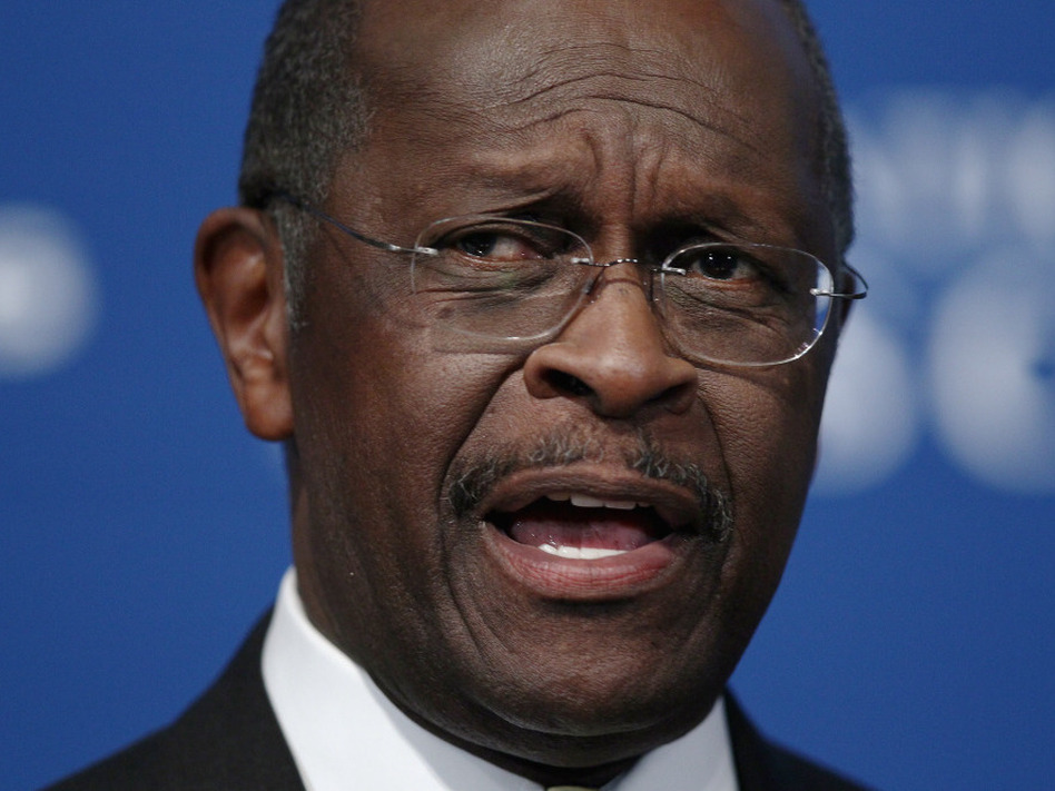 <p>Republican presidential candidate Herman Cain at The National Press Club today (Oct. 31, 2011). </p> (Win McNamee/Getty Images)