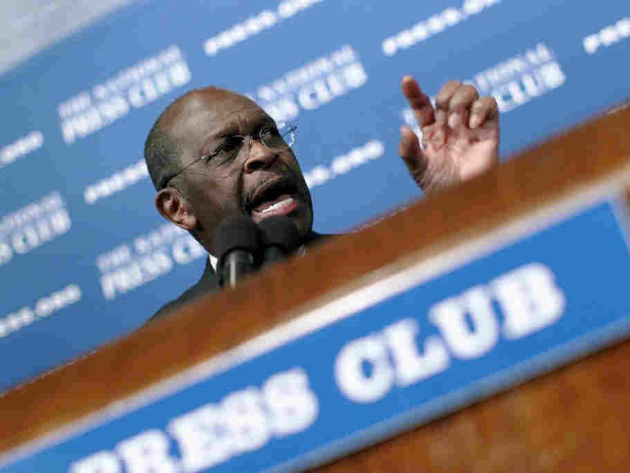 Herman Cain at The National Press Club, Oct. 31, 2011 in Washington, DC.