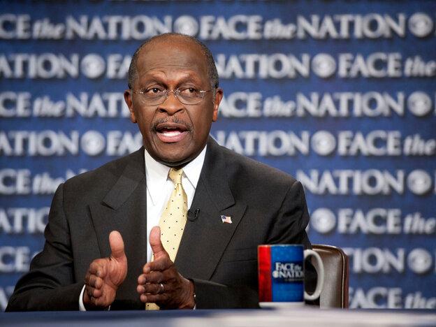 "Herman Cain on CBS' ""Face the Nation"" in Washington Sunday, Oct. 30, 2011."