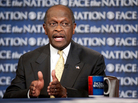 "Herman Cain on CBS' ""Face the Nation"" in Washington Sunday, Oct. 30, 2011."