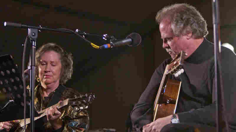 Mary  Flower And Pat Donohue On Mountain Stage