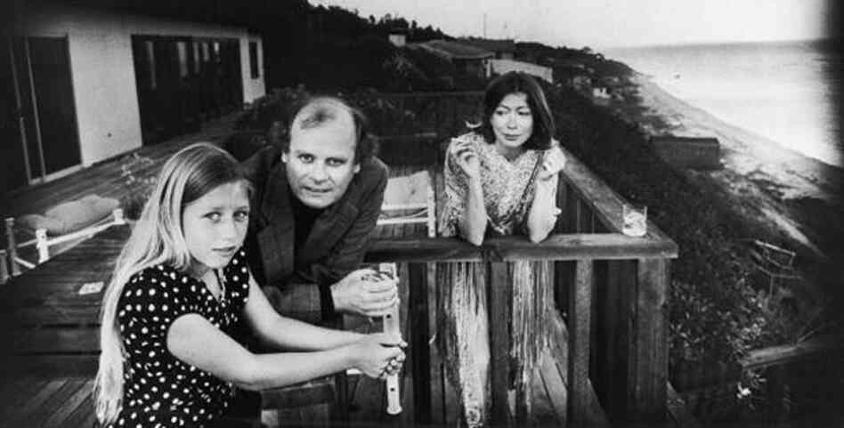 Quintana Roo Dunne takes in the ocean view with her parents, John Gregory Dunne and Joan Didion in Malibu in 1976. Quintana Roo fell ill in 2003, and her father had a fatal heart attack several days later. Blue Nights is Didion's elegy for her daughter who died in 2005 at age 39.
