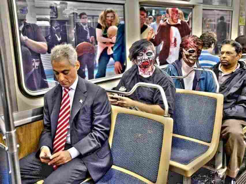 The mayor's message: Have a safe Halloween, zombies included.