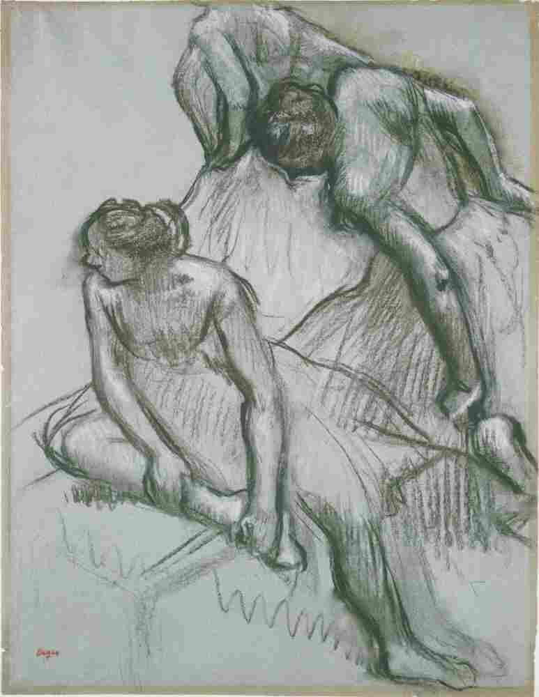 Degas — a charming but reclusive bachelor — spent hours observing the ballerinas behind the scenes, allowing him to sketch candid moments like his 1889 Three Dancers.