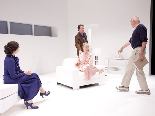 Michael Kahn (right) directs Holly Twyford, Tracy Lynn Middendorf and Steven Culp in his 2011 production of Old Times.