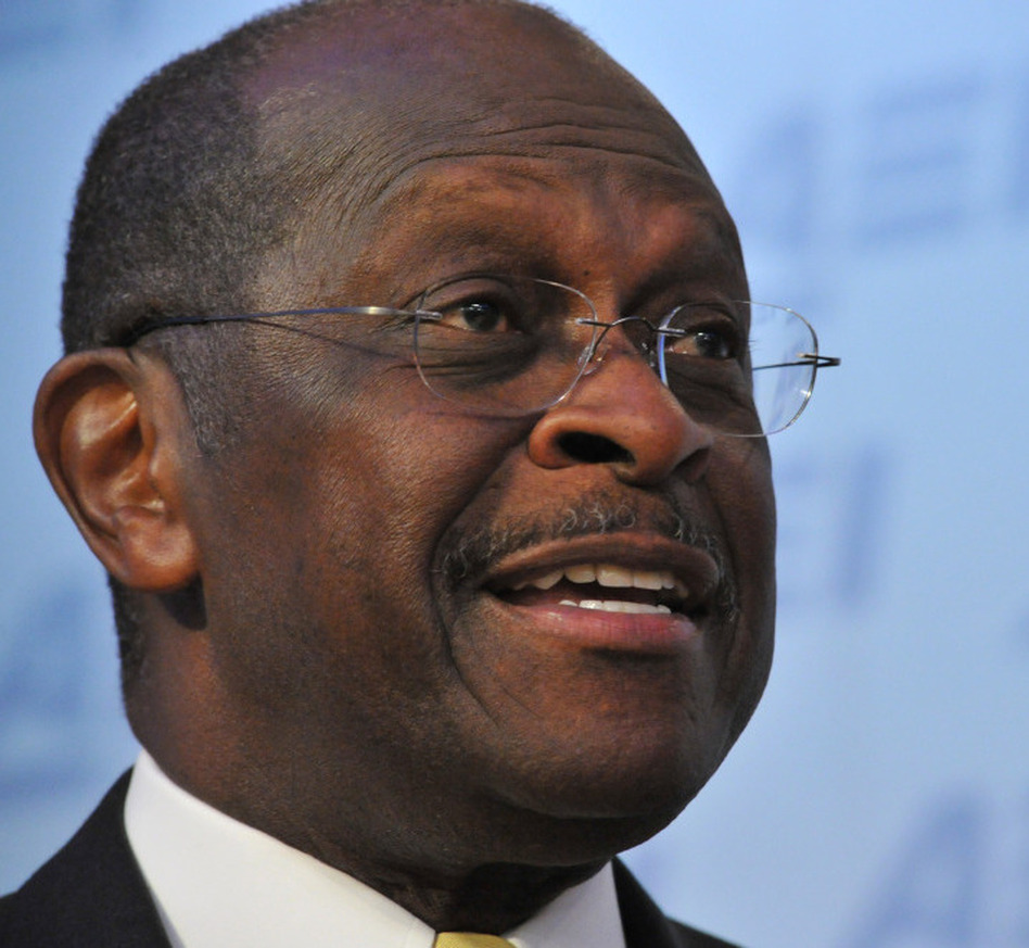 <p>Republican presidential contender Herman Cain during an appearance at the American Enterprise Institute on Monday.</p> (Karen Bleier /AFP/Getty Images)