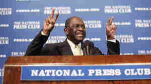 Republican presidential candidate Herman Cain spoke about the harassment allegations at the National Press Club in Washington, D.C., on Monday.