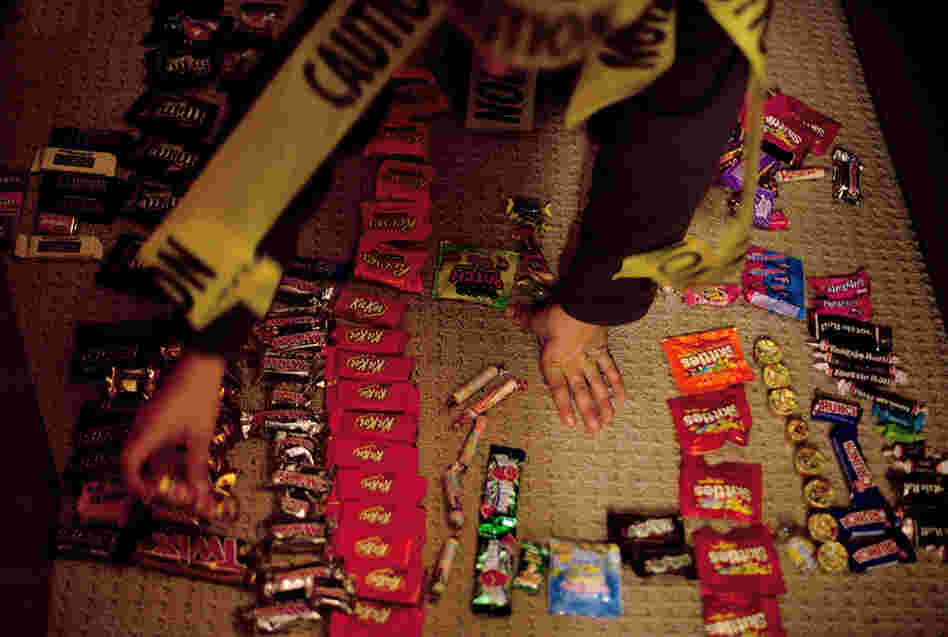 "Ben Wallach's ""candy shop"" of recently acquired Halloween sweets is open for business."