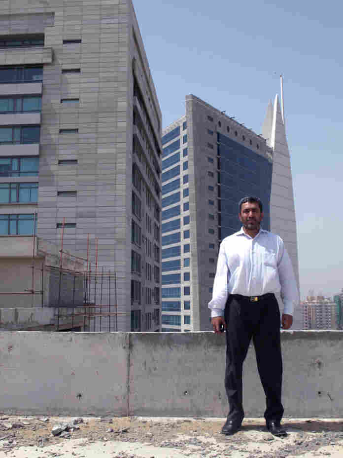 Jabir Hussain Dada is the sales manager of a new office tower and mall being built where a casino once stood in Karachi.
