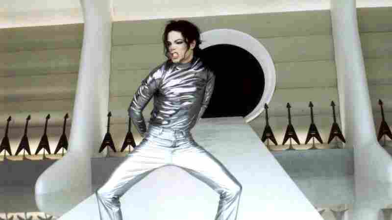 "Michael Jackson performs in his ""Scream"" video for MTV in 1995."