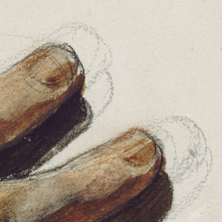 Theodore Gericault traced his fingers with pencil before painting.