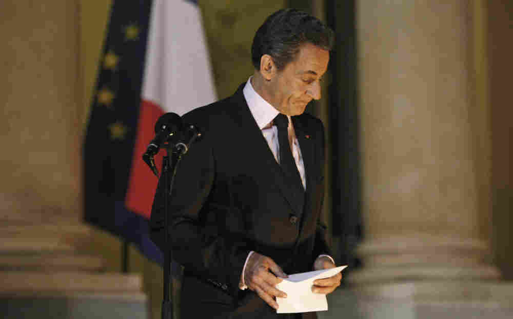 French President Nicolas Sarkozy defended the hard-fought European bailout plan for Greece as he spoke to the media Tuesday at the Elysee Palace in Paris.