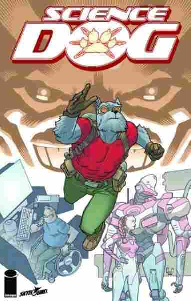Cover of Science Dog Oversized Hardcover #1, a new edition collecting tales of the terrific terrier's temporal tribulations originally published in the Image superhero comic Invincible.