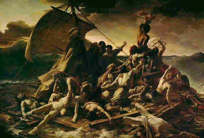 "Theodore Gericault, ""Raft of the Medusa"""