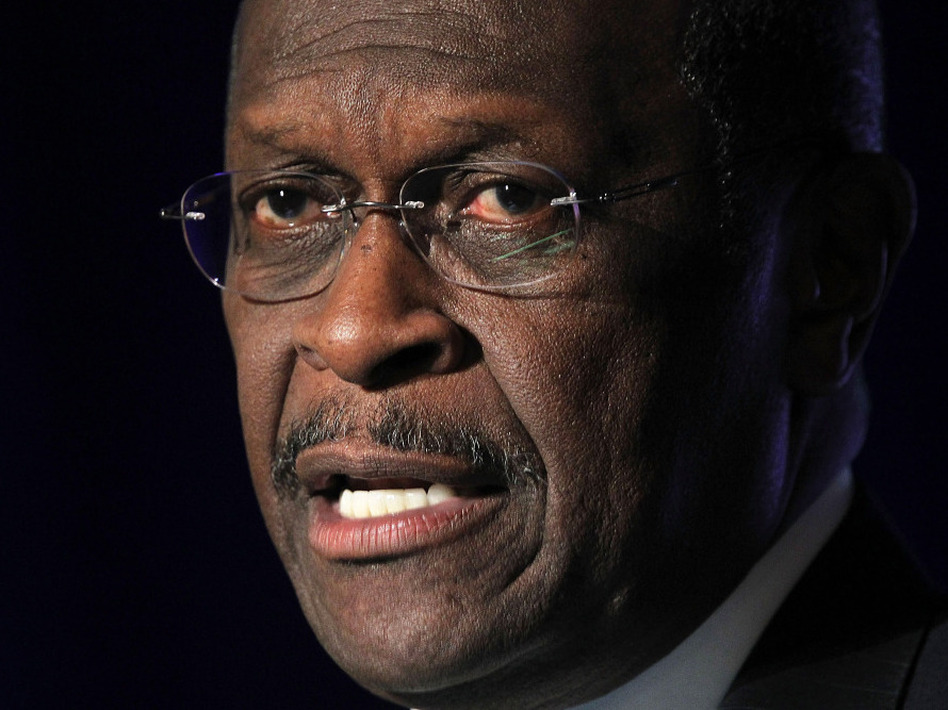 Republican presidential candidate Herman Cain spoke in Virginia on Wednesday.  (Alex Wong/Getty Images)