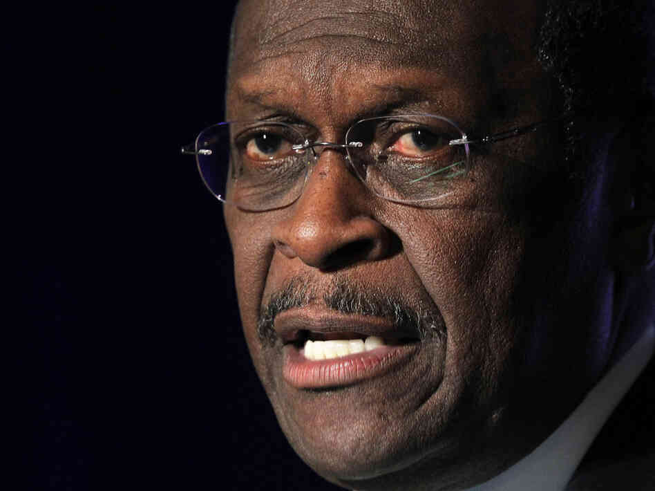 Republican presidential candidate Herman Cain during an appearance on Wednesday (Nov. 3, 2011) in McLean, Va.