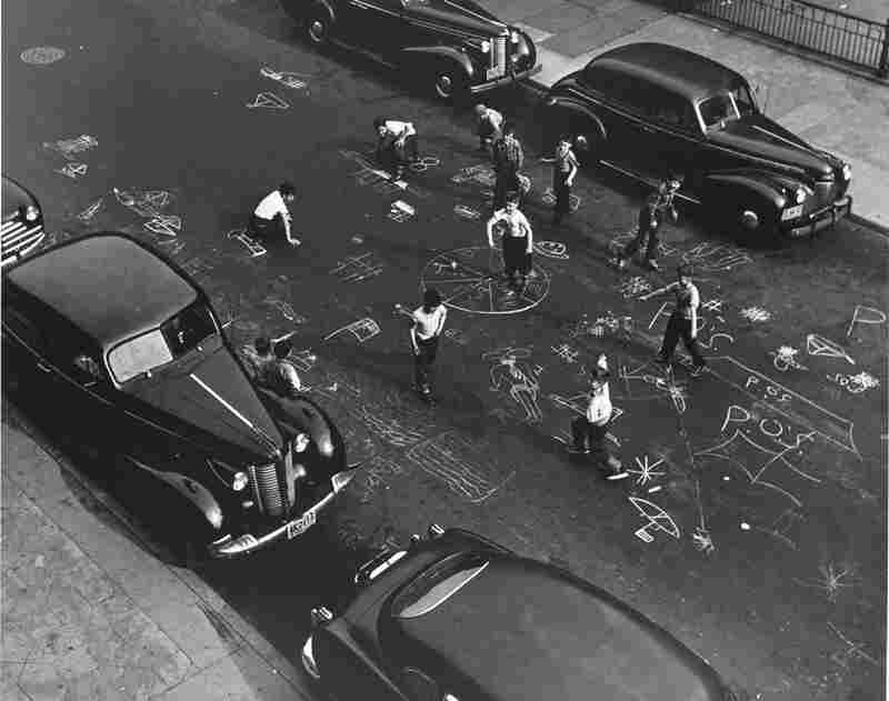 Chalk Games, Prospect Place, Brooklyn, 1950