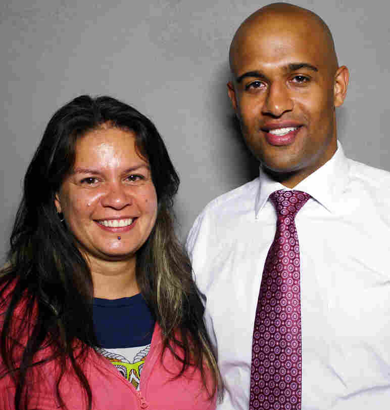 Gweneviere Mann with her boyfriend, Yasir Salem, visited StoryCorps in New York City, where the pair will be running their second marathon Sunday.