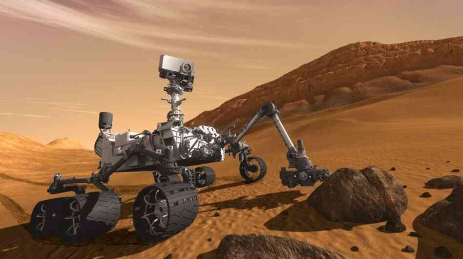 NASA's next Mars rover, Curiosity, seen in this artist's rendering, will use 8 pounds of plutonium-238 as its power supply. That's a significant portion of the remaining space fuel. NASA and the Department of Energy have offered to split