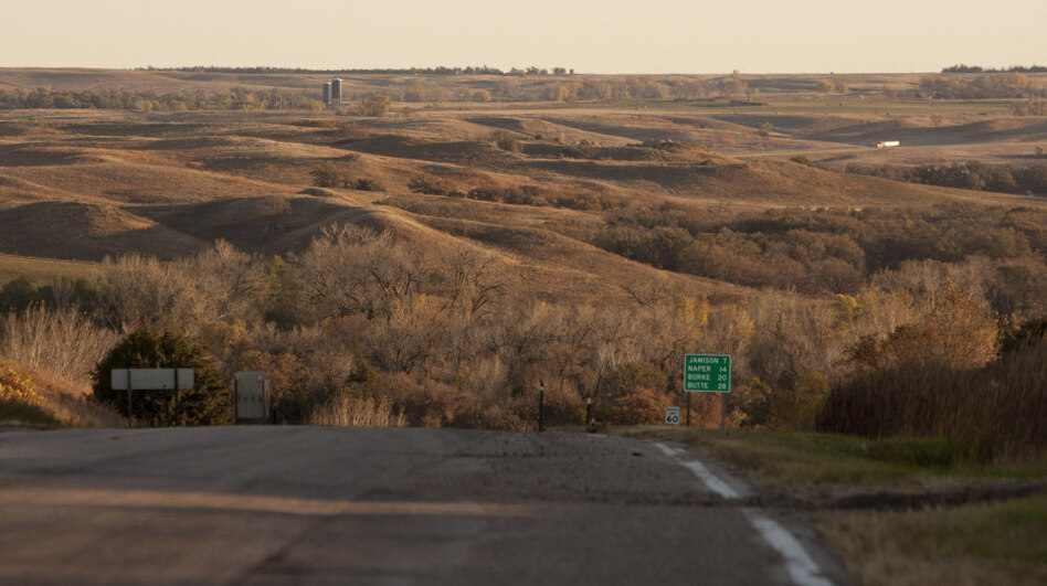 TransCanada plans to build the Keystone XL pipeline through Nebraska's Sandhills region shown here in Mills, Neb. State legislators have introduced bills barring pipelines in environmentally sensitive areas like the Sandhills and the Ogallala aquifer.
