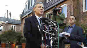 Joel Bennett, an attorney for a woman who accused Herman Cain of sexual harassment while both worked at the National Restaurant Association, speaks during a news conference outside his office in Washington on Nov. 4.