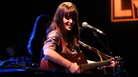 Feist performs at the World Cafe 20th-anniversary concert.