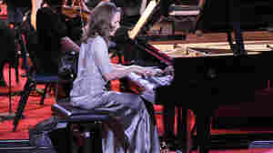 Pianist Helene Grimaud performing in Montpellier, France in 2010.