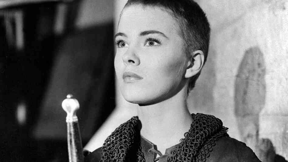 Actress Jean Seberg plays Joan of Arc in the 1957 Otto Preminger film Saint Joan.
