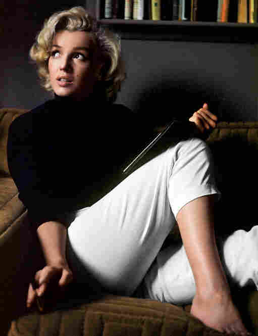Marilyn Monroe relaxing at home in Hollywood, 1953.