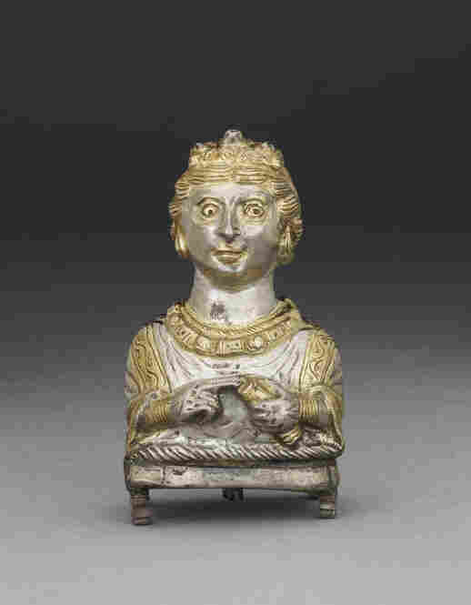 Made in the shape of a Roman matron, this pepper pot from the village of Hoxne in Suffolk, England, was created between 350 and 400 A.D., not long before the fall of the Roman Empire, which was then in control of England. Pepper was a luxurious commodity brought to England from India, thanks to the empire's thriving spice trade.