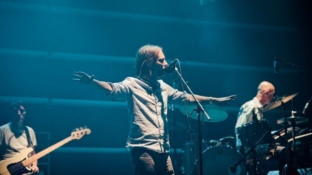 Radiohead in concert at Roseland Ballroom in New York City, Sept. 28, 2011.