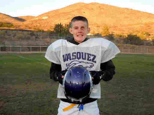 Taylor Howell told Vasquez High's football coach that if he wasn't blind he sure would love to play football. The coach told him he'd have to come up with a better excuse than that. The sophomore now plays center on the junior varsity team.
