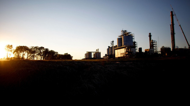 """The Continental Carbon plant sits on the southern outskirts of Ponca City, Okla. Until August, the plant was on an internal EPA """"watch list,"""" for violating rules of the Clean Air Act. (NPR)"""