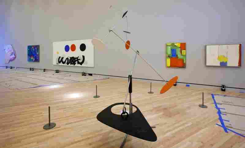 Inside Crystal Bridges, galleries will feature colonial, 19-century, modern and contemporary artworks including Alexander Calder's sculpture Trois noirs sur un rouge (center).