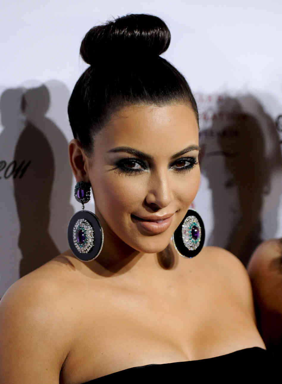 Seen here on October 17, Kim Kardashian is now — maybe — getting a divorce.